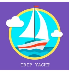 yacht club team art vector image
