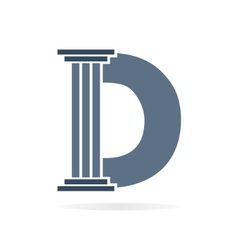 Letter d logo or symbol icon vector