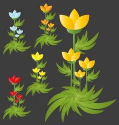 Flowers group isolated vector