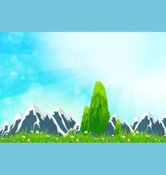 Green Landscape Background vector image