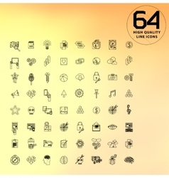 Universal modern icons for web and mobile app vector
