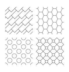 Hex diagonal rectangles and circles textures vector
