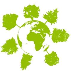World tree ecology vector