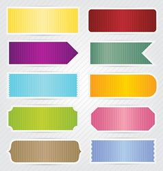 Labels tags banners with white border design vector