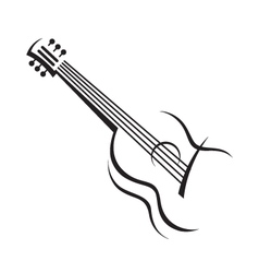 Image of guitar vector