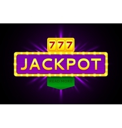 Retro banner of jackpot vector