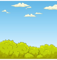 bushes and the sky vector image vector image