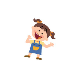 cartoon character of a cheerful girl vector image