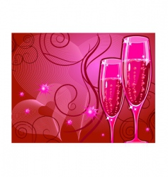 champagne glass vector image vector image
