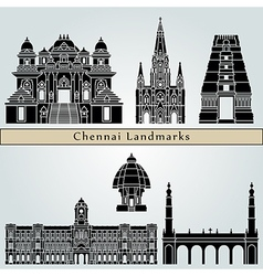 Chennai landmarks and monuments vector image vector image