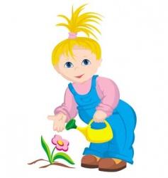 child gardener vector image vector image