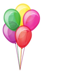 Color balloons floating isolated on white eps10 vector