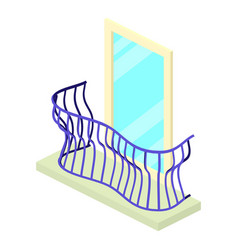 curved balcony icon isometric 3d style vector image vector image