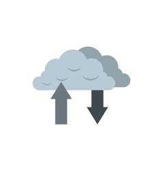 Download and upload from cloud icon vector image