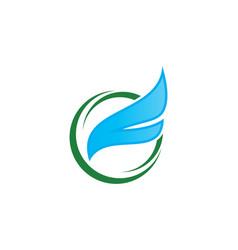 Fly wing logo vector