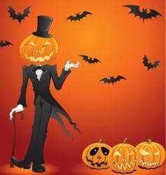 Halloween lantern vector image