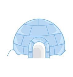 Ice house igloo vector image vector image