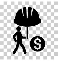 Industrial financial coverage icon vector