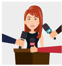Interview person on news vector