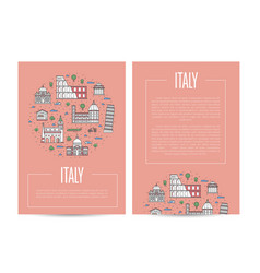 italy country traveling advertising template vector image vector image