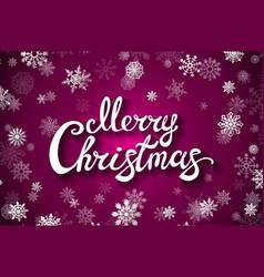 merry christmas glittering lettering design eps vector image