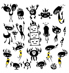 mushroom monsters vector image vector image