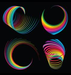 Rainbow ribbons vector