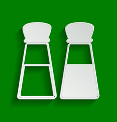 Salt and pepper sign paper whitish icon vector