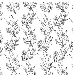 seamless pattern bird of paradise flower leaves vector image vector image
