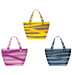 Set of beach bags vector image