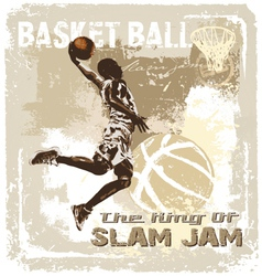 slam jam basketball vector image
