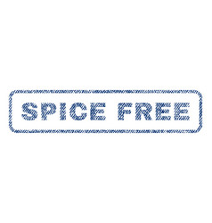Spice free textile stamp vector