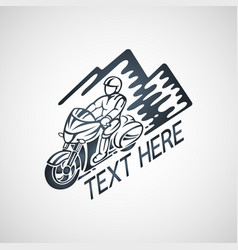 Touring motorcycle club logo vector