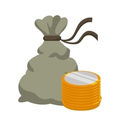 Money bag financial item design vector