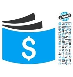 Checkbook Flat Icon With Bonus vector image