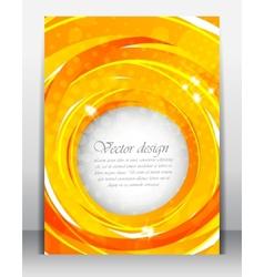 Bright orange poster vector image