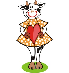 Cow heart vector