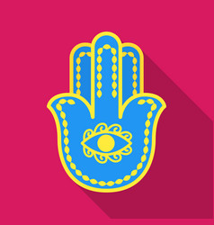 Hamsa icon in flat style isolated on white vector