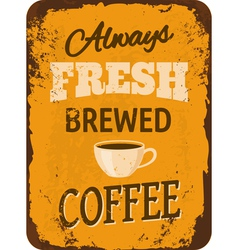 Vintage coffee tin sign vector