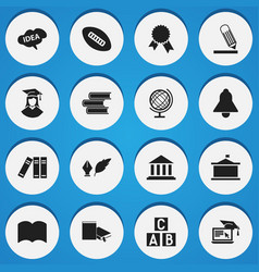 Set of 16 editable science icons includes symbols vector