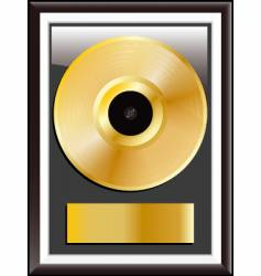 gold vinyl disc vector image