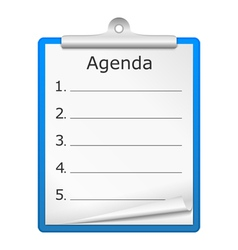 Agenda on clipboard vector