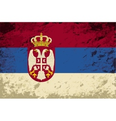 Serbian flag grunge background vector