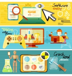 Software testing games and crash test vector