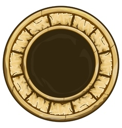 Round stone frame vector image