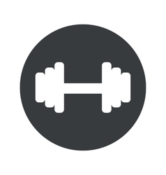 Monochrome round barbell icon vector