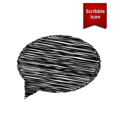 Speech bubble scribble icon for you design vector
