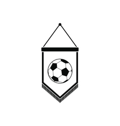 Pennant with soccer ball icon vector