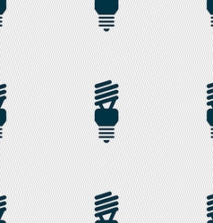 Fluorescent lamp icon sign seamless pattern with vector