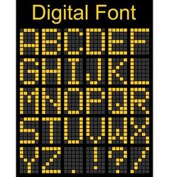 Dot font on Digital Board vector image